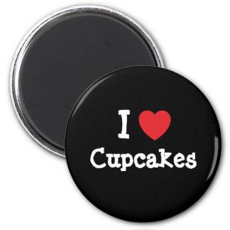 I love Cupcakes heart T-Shirt 2 Inch Round Magnet