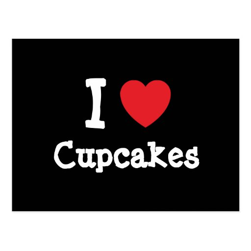 I love Cupcakes heart T-Shirt Post Card