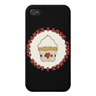 I Love Cupcakes iPhone 4 Cases