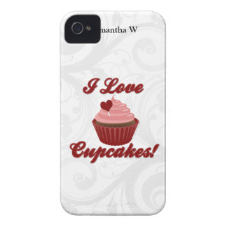 I Love Cupcakes iPhone 4 Covers