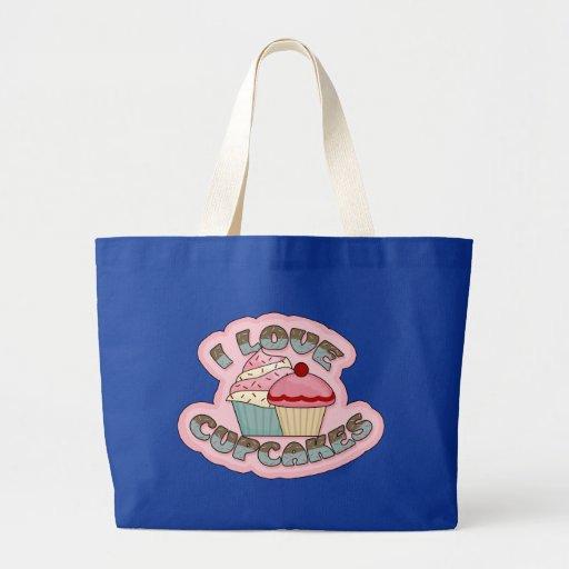 I Love Cupcakes Jumbo Tote Bag