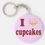 I Love Cupcakes Key Chains