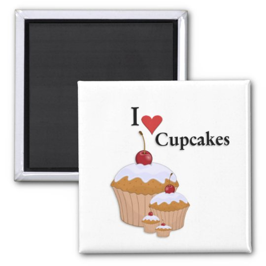 I Love Cupcakes Magnet