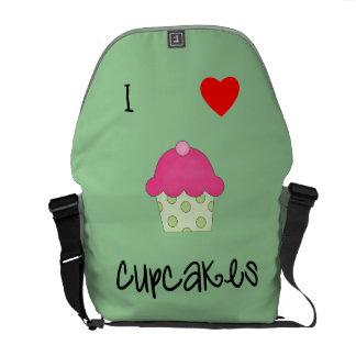 I love cupcakes messenger bags