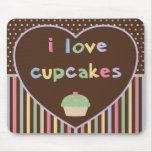 i love cupcakes mouse mat