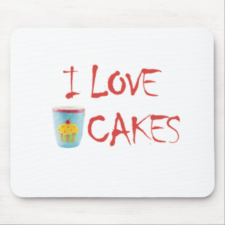 I Love cupcakes Mouse Pad