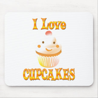 I Love Cupcakes Mouse Pads