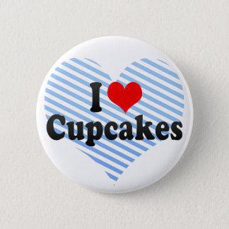 I Love Cupcakes Pinback Button