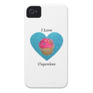 I love cupcakes pink cupcake Case-Mate iPhone 4 case