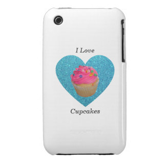 I love cupcakes pink cupcake iPhone 3 covers