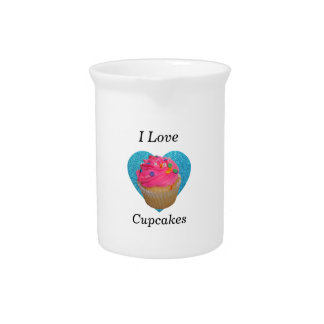 I love cupcakes pink cupcake drink pitcher