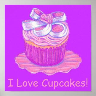 I Love Cupcakes ~ Pink Cupcake Print