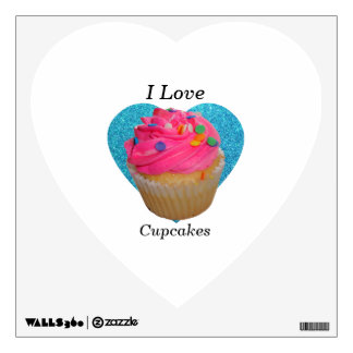 I love cupcakes pink cupcake room decal