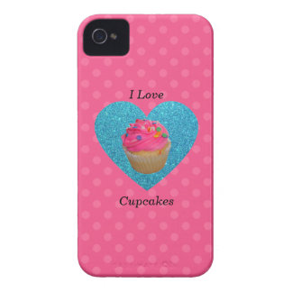 I love cupcakes pink polka dots iPhone 4 covers