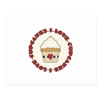 I Love Cupcakes Postcard