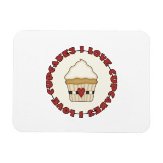 I Love Cupcakes Rectangular Photo Magnet