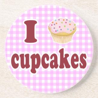 I Love Cupcakes Sandstone Coaster