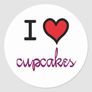 I Love Cupcakes stickers