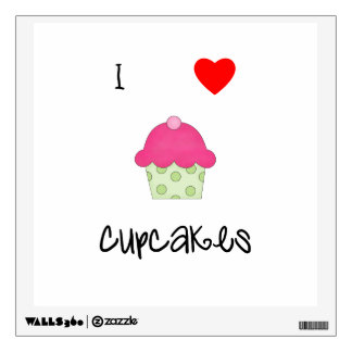 I love cupcakes wall sticker