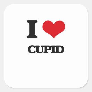 I love Cupid Square Sticker