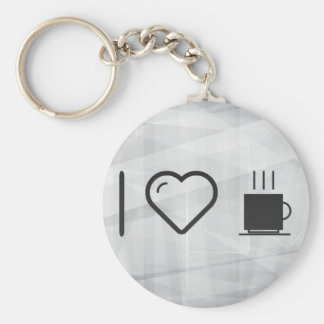 I Love Cups Molds Basic Round Button Keychain