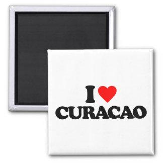 I LOVE CURACAO FRIDGE MAGNETS