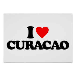 I LOVE CURACAO POSTER