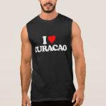 I LOVE CURACAO SLEEVELESS SHIRTS