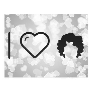 I Love Curled Hairs Postcard