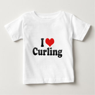 I Love Curling Baby T-Shirt