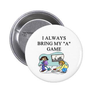 i love curling curler button