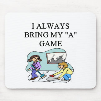 i love curling curler mouse pad