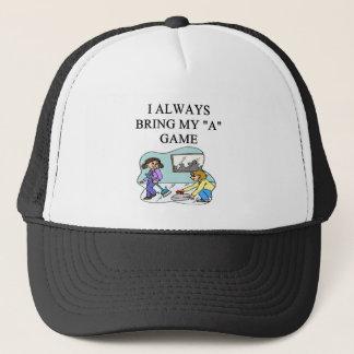 i love curling curler trucker hat