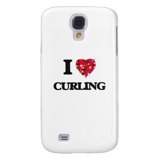 I Love Curling Galaxy S4 Cases