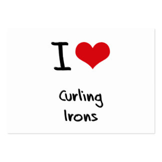 I love Curling Irons Large Business Cards (Pack Of 100)