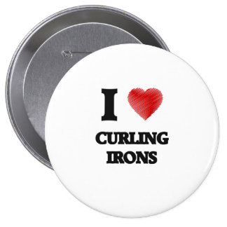 I love Curling Irons Button