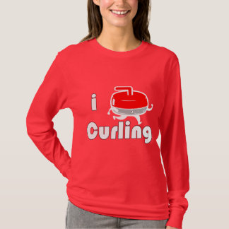 [ I LOVE CURLING ] Long Sleeve T-Shirt by SKO