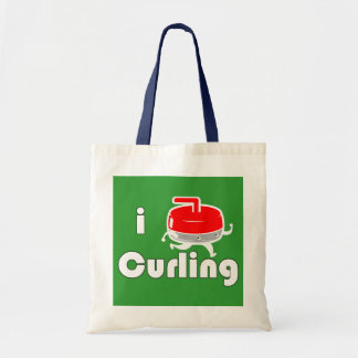 """[ I LOVE CURLING ] """"Rocky"""" Limited Ed. Collectable Canvas Bag"""