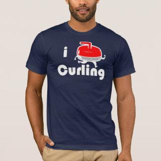 [ I LOVE CURLING ] Vintage Design by SKO T-Shirt