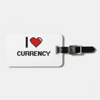 I Love Currency Digital Retro Design Luggage Tag