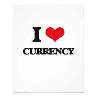 """I Love Currency 4.5"""" X 5.6"""" Flyer"""