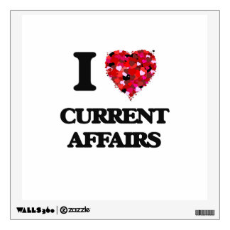 I love Current Affairs Wall Stickers