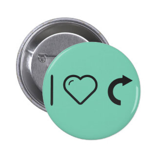 I Love Curve Blends 2 Inch Round Button