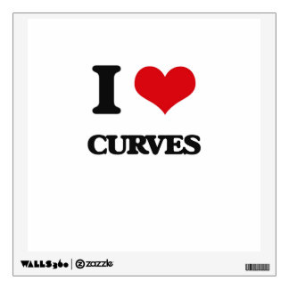 I love Curves Wall Graphic
