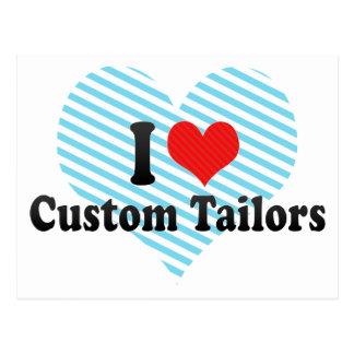 I Love Custom Tailors Postcard