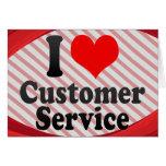 I love Customer Service Stationery Note Card