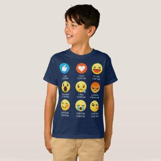 I Love CUSTOMIZABLE Emoticons (emoji) Sayings T-Shirt