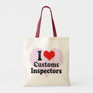 I Love Customs Inspectors Canvas Bags