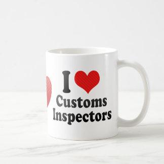I Love Customs Inspectors Classic White Coffee Mug