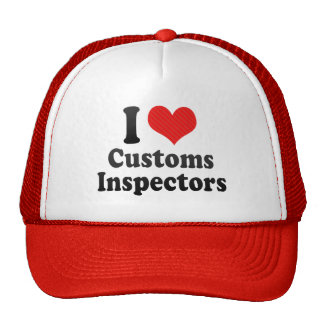 I Love Customs Inspectors Mesh Hats